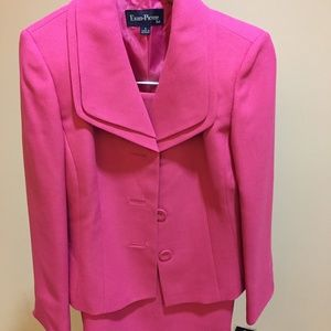 Peony Pink Evan Picone Skirt Suit and Jacket